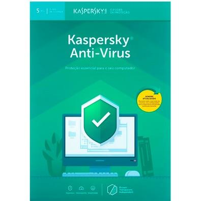Kaspersky Antivírus 2019 5 PCs - Digital para Download