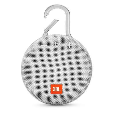 Caixa de Som JBL Clip 3, Bluetooth, À Prova D´Água, 3.3W, Branco - JBLCLIP3WHT