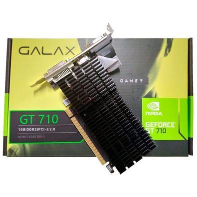 Placa de Vídeo Galax NVIDIA GeForce GT 710 1GB, DDR3 - 71GGF4DC00WG