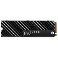 SSD WD Black SN750 Heatsink, 1TB, M.2 NVMe, Leitur..