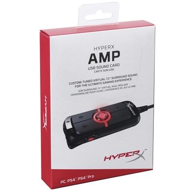 Placa de Som HyperX Amp USB Virtual 7.1 Surround Sound - HX-USCCAMSS-BK