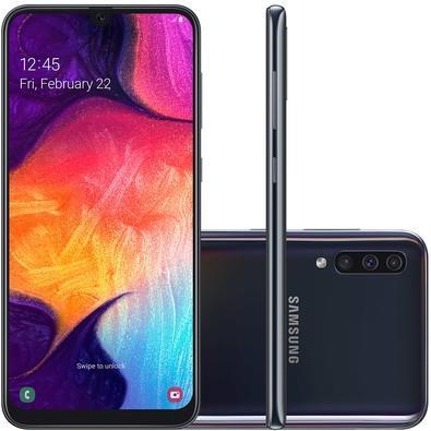 Smartphone Samsung Galaxy A50, 64GB, 25MP, Tela 6.4´, Preto - SM-A505GT/6DL