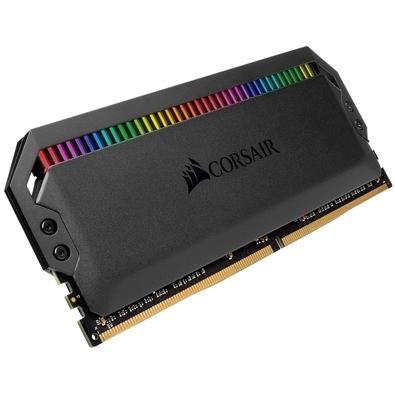 Memória Corsair Dominator RGB, 32GB (4x8GB), 3600Hz, DDR4, C18, Preto - CMT32GX4M4C3600C18