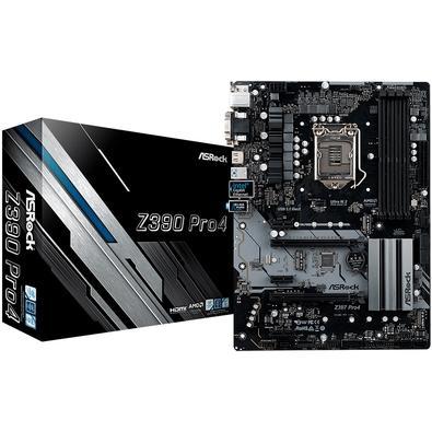 Placa-Mãe ASRock Z390 Pro4, Intel LGA 1151, ATX, DDR4 - 90-MXB6T0-A0UAYZ