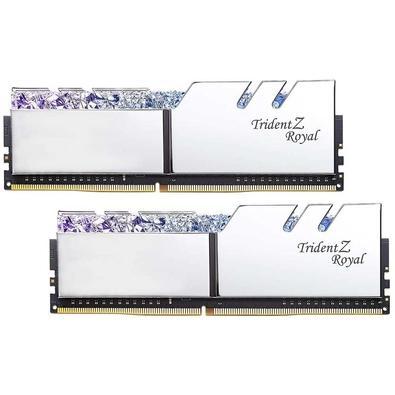 Memória G.Skill Trident Z Royal, 16GB (2x8GB), 3600Hz, DDR4, C17 - F4-3600C17D-16GTRS
