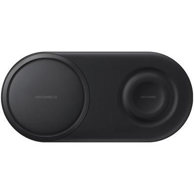 Carregador Sem Fio Samsung Duplo, USB Tipo C, Preto - EP-P5200TBPG