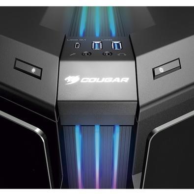 Gabinete Gamer Cougar Gemini T, Mid Tower, RGB, 2 FANs, Lateral em Vidro - 106KMT0004-00