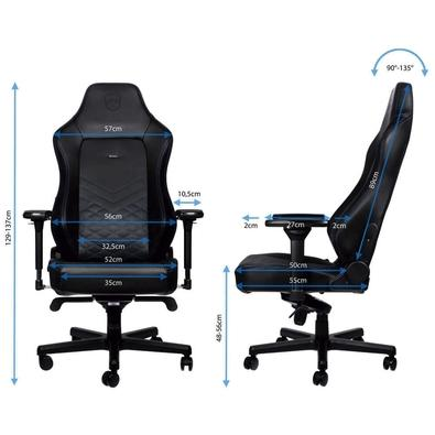 Cadeira Gamer Noblechairs Hero, Black Blue - NBL-HRO-PU-BBL