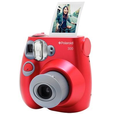 Câmera Instantânea Polaroid, Vermelha - POLPIC 300