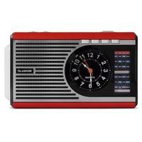 Rádio Portátil Telespark Clock - Bluetooth, MP3, USB, SD/MicroSD, FM, 3W RMS Vermelho - 7342