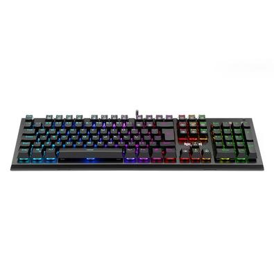 Teclado Mecânico Gamer Redragon Dark Aryaman, RGB, Switch Outemu Blue, ABNT2 - K569RGB