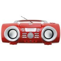 Boombox Philco 10W, CD, FM, AUX, USB, Vermelho, Bivolt - PB130V