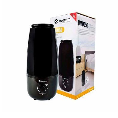 Umidificador de Ar Incoterm Ultrassônico, 1.6L, 110V, Preto - UMD050