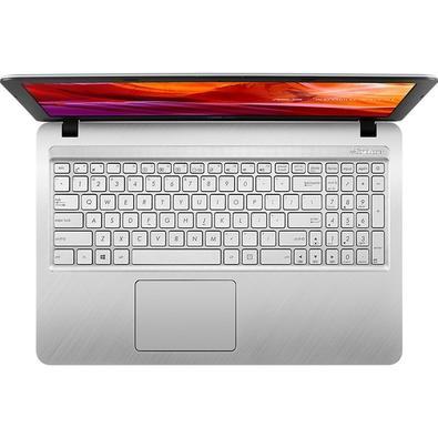 Notebook Asus Celeron N4000, 4GB, 500GB, Windows 10 Home, 15.6´, Prata Metálico - X543MA-GO595T