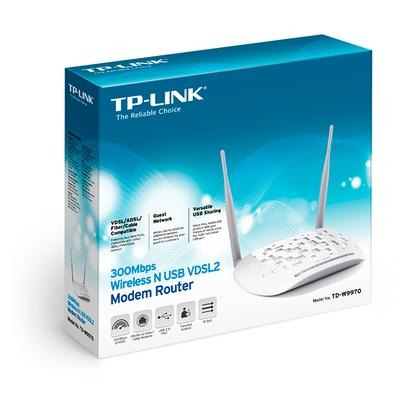 Roteador TP-Link Wireless VDSL2, 300mbps, Branco - TD-W9970