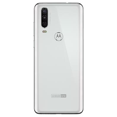 Smartphone Motorola Moto One Action, 128GB, 16MP, Tela 6.3´, Branco Polar + Capa - XT2013-1