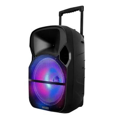 Caixa de Som Amplificadora Multilaser Trolley, Bluetooth, USB, RGB, Speaker 12´, Microfone, 400W - SP331