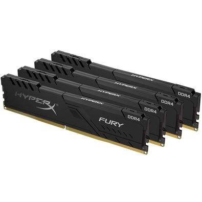 Memória HyperX Fury, 64GB (4x16GB), 2400MHz, DDR4, CL15, Preto - HX424C15FB3K4/64