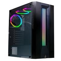 Gabinete Gamer Rise Mode Glass 03, ATX/ M-ATX/ ITX, RGB, com FAN, Lateral em Vidro - RM-CA-03-RGB
