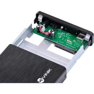 Case Vinik para HD 3.5´, USB 3.0, Preto/Prata - CHDA-200