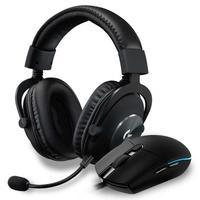Kit Gamer Logitech G - Mouse G PRO Hero RGB 16000DPI + Headset G PRO, Stereo, Drivers Pro-G de 50 mm
