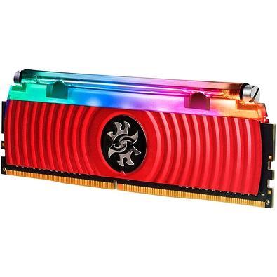Memória XPG Spectrix D80 RGB 32GB (2x16GB), 3000MHz, DDR4, CL16, Vermelho - AX4U3000316G16-DR80
