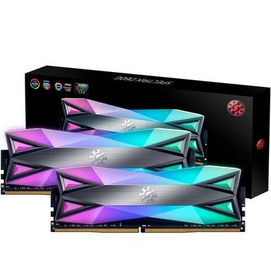 Memória XPG Spectrix D60G RGB 16GB (2x8GB), 3000MHz, DDR4,  CL16, Cinza - AX4U300038G16A-DT60