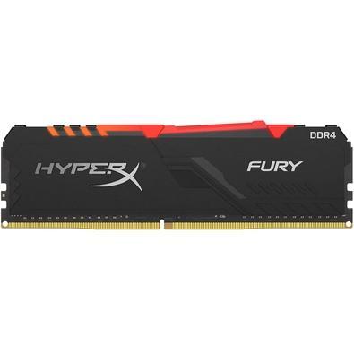 Memória HyperX Fury RGB, 16GB, 3000MHz, DDR4, CL15, Preto - HX430C15FB3A/16