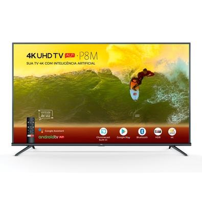 Smart TV LED 65´ 4K TCL, Android TV, 3 HDMI, 2 USB, Bluetooth, Wi-Fi, HDR, Chumbo - 65P8M