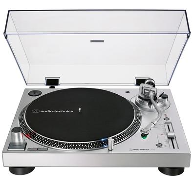 Toca Discos Audio Technica, Acionamento Direto, Analógico e Digital (USB), Bivolt, Prata - AT-LP120XUSB-SV