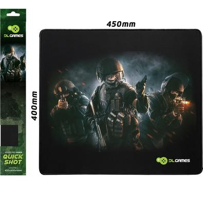Mousepad Gamer DL Games QuickShot, Speed, Grande (450x400mm) - MD250PRE