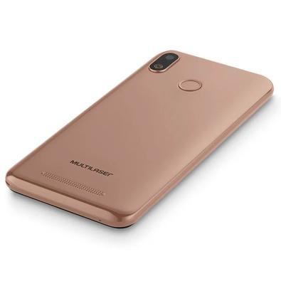 Smartphone Multilaser G, 16GB, 5MP, Tela 5.5´, Dourado + Capa e Película - P9096