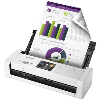 Scanner Portátil Brother ADS-1700W, Colorido, Duplex, Display Touch, Wi-Fi - ADS-1700W