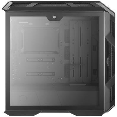 Gabinete Gamer Cooler Master H500M, Mid Tower, com FAN, RGB, Lateral em Vidro, Cinza - MCM-H500M-IHNN-S00