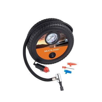 Compressor de Ar Automotivo Multilaser, 12V, Vazão 15L/min, 150psi, 3 Bicos Adaptadores - AU615