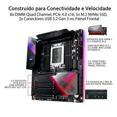 Placa-Mãe Asus ROG Zenith II Extreme, AMD sTRX4, EATX, DDR4