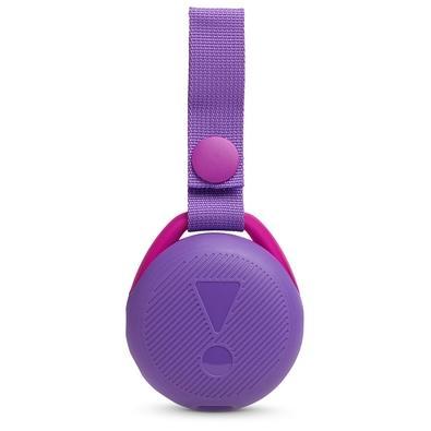 Caixa de Som Portátil JBL JR Pop, Bluetooth, 3W RMS, À Prova D´Água, Roxo - 28913063