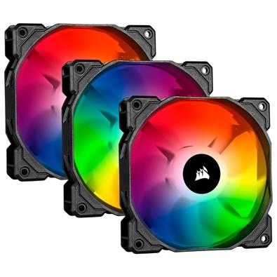Kit com 3 Cooler FAN Corsair iCUE SP120 RGB PRO, 120mm - CO-9050094-WW