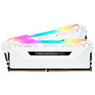 Memória Corsair Vengeance RGB Pro, 32GB (2x16GB), 3000MHz, DDR4, CL15, Branco - CMW32GX4M2C3000C15W