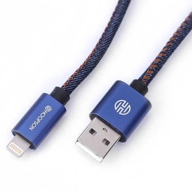 Cabo para Celular Hoopson Iphone, Lightning, Jeans - CH-04