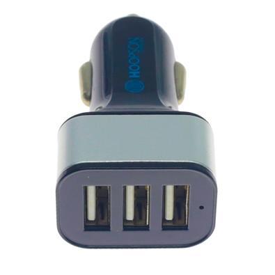 Carregador Veicular Hoopson, 3 USB, Preto - CEL-02