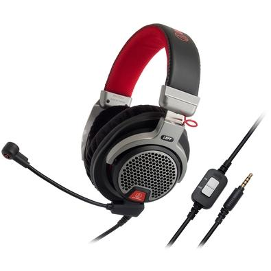 Headset Gamer Audio-Technica, Drivers 44mm, Preto e Vermelho - ATH-PDG1