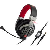Headset Gamer Audio-Technica, Drivers 44mm, Preto e Vermelho - ATH-PDG1