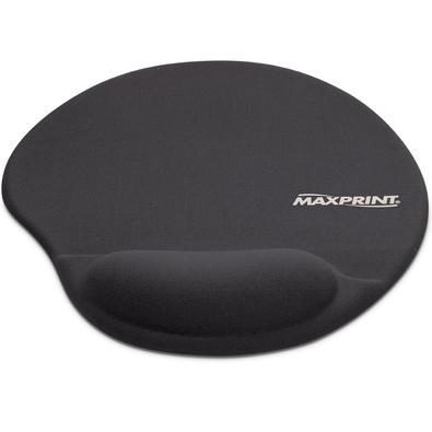 Apoio de Pulso Maxprint Para Mouse, Gel, 220x355mm, Preto - 604484