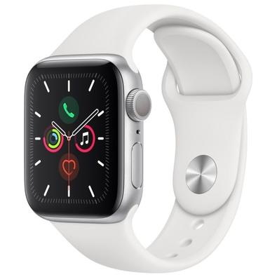 Apple Watch Series 5, GPS, 40mm, Prata, Pulseira Branca - MWV62BZ/A