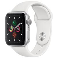 Apple Watch Series 5, GPS, 40mm, Prata, Pulseira Branca - MWV62BZ/A