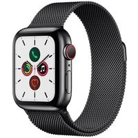 Apple Watch Series 5 Cellular, GPS, Cinza Espacial, Pulseira Preta - MWX92BZ/A