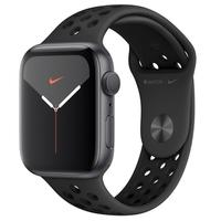 Apple Watch Nike Series 5, GPS, 44mm, Cinza Espacial, Pulseira Preta - MX3W2BZ/A