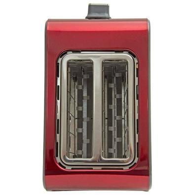 Tostador Elétrico Black + Decker Perfect Roast, 7 Níveis de Tostagem, 110V, Inox Vermelho - T850V-BR