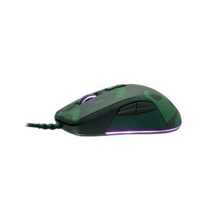 Kit Gamer Redragon S108 Dark Green - Teclado Mecânico, Rainbow, Switch Outemu Blue, ANSI + Mouse RGB Camuflado - S108